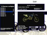 Ultimate Motorcross Windows Selecting a race and transmission type.