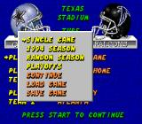 ESPN Sunday Night NFL Genesis Game modes