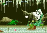 Altered Beast Genesis Fighting a multi-eyed boss