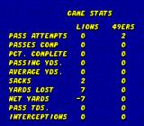 ESPN Sunday Night NFL Genesis Game stats