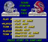 ESPN Sunday Night NFL SNES You can even just coach a team in this game.