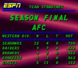 ESPN Sunday Night NFL SNES League standings