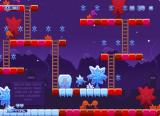 Jack Frost Browser The third level has purple enemies that climb up and down ladders.