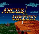 Arcus Odyssey Genesis Title screen