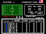 Tecmo World Cup '93 SEGA Master System Setting up the formation and players before the big match