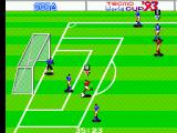 Tecmo World Cup '93 SEGA Master System Lining the ball up…