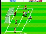 Tecmo World Cup '93 SEGA Master System I kick my first goal of the game. Too bad that Argentina has kicked 5 of there own.