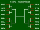 Tecmo World Cup '93 SEGA Master System Overall it was good enough to get me into the Final Tournament. However I lost to Spain and got eliminated.