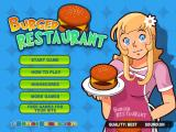 Burger Restaurant Browser Main menu