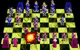 Battle Chess Amiga Boom! The king takes out the knight with a bomb.