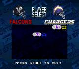 Madden NFL '94 SNES Select a team to play as