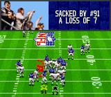 Madden NFL '94 SNES Quarterback got sacked