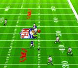 Madden NFL '94 SNES Ball thrown in to the air