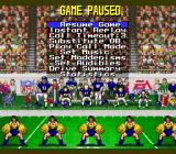 Madden NFL '94 SNES Game paused