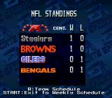 Madden NFL '94 SNES League standings