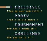 Championship Pool SNES Game Mode selection screen