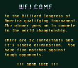 Championship Pool SNES Intro for the start of the BCA Regional Qualifying Tournament