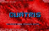 Quatris Atari ST Title screen