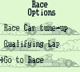 Nigel Mansell's World Championship Racing Game Boy If you want to race a single circuit, select tune-up, a qualifying lap or race.
