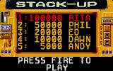 Stack Up Atari ST The high score table