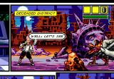 Comix Zone Genesis Liberty statue and mutants. Look at the hand that is drawing the picture: is it cool or what?!