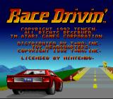 Race Drivin' SNES Title screen