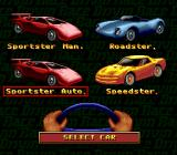 Race Drivin' SNES Select a car.