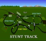 Race Drivin' SNES Overview of the stunt track