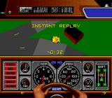 Race Drivin' SNES Instant replay of the accident