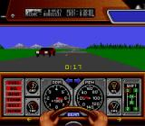 Race Drivin' SNES Driving on the right side of the road.