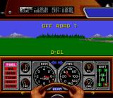 Race Drivin' SNES A countdown begins when the car is driven off road.