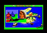 Peter Pan Amstrad CPC I've selected the Indian village. I'll need to help Tiger Lily.