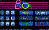 Blox Atari ST The main menu