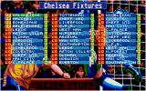 Championship Manager DOS My team's fixtures