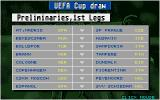Championship Manager DOS The preliminary draw for the UEFA Cup