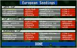Championship Manager DOS The European seedings are listed here.