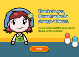 Cooking Mama: Mama Kills Animals Browser After completely preparing the turkey, mama has a change of heart and tosses the turkey away.
