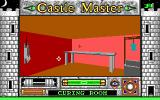 Castle Master DOS The curing room contains some delicious fish (right) and an inedible animal on the rack to the left. (EGA)