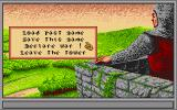 Iron Lord Amiga The option screen at your castle. Here you can save or load a game or declare war.