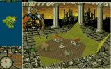 PowerMonger Amiga Close up of a village.