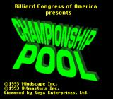 Championship Pool Genesis Title screen