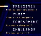 Championship Pool Genesis Game Mode selection screen