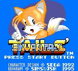Tails' Skypatrol Game Gear Title Screen