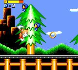 Tails' Skypatrol Game Gear Attacking some enemies with the ring