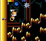 Tails' Skypatrol Game Gear Avoiding spiky enemy in the mines