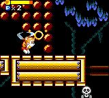 Tails' Skypatrol Game Gear Using the ring to dig through boulders