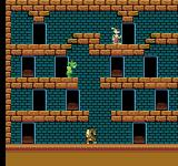 The Bugs Bunny Crazy Castle NES In game screenshot from the Famicom version.  Besides Roger Rabbit sprites there are some gameplay differences, as well.