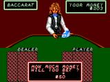 Casino Games SEGA Master System Placing a bet in Baccarat. Works the same way in the other card games.