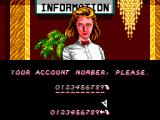 Casino Games SEGA Master System Entering an Account Number (password save).