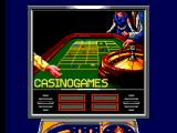 Casino Games SEGA Master System The Backboard to the CASINOGAMES pinball table.